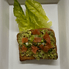 Avocado toast with chopped tomatoes
